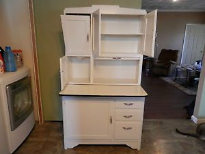Hoosier sellers style cupboard bakers rack cabinet flour sifter ...