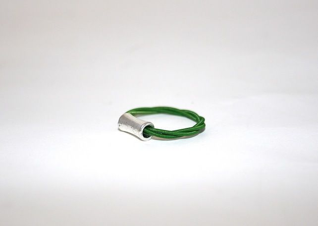 Guitar String Ring Green £8.50
