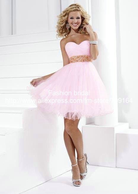 Robe de cocktail mariage rose
