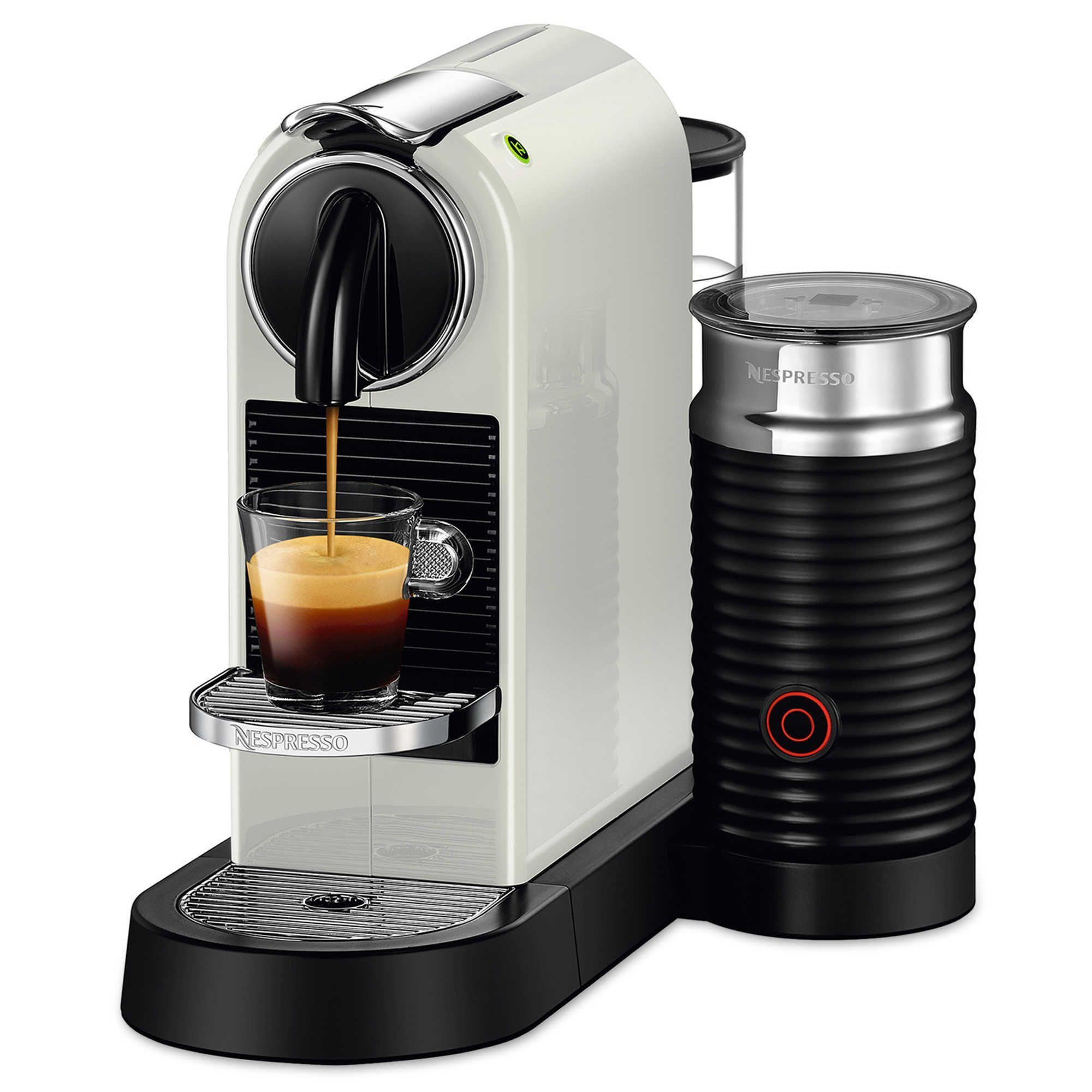 Nespresso Citiz and Milk White Frother and Espresso
