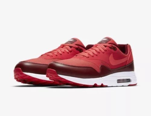 separation shoes 68c02 3ed0c Nike Air Max 1 Ultra 2.0 Essential Mens Running Shoes 10 Track Red 875679  601  Nike  RunningShoes