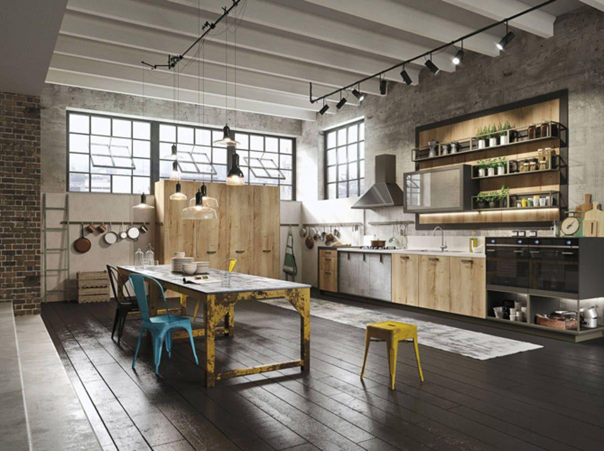 un loft industriel la cuisine grandiose