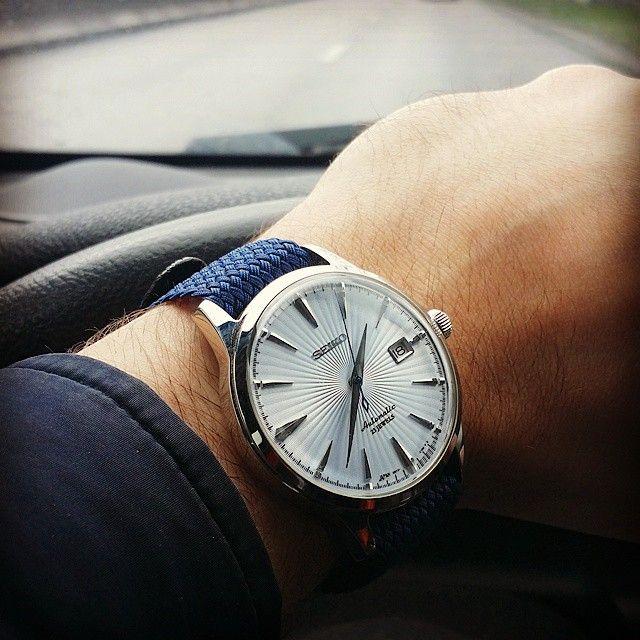 seiko sarb065 w blue perlon strap watches herrenuhren. Black Bedroom Furniture Sets. Home Design Ideas