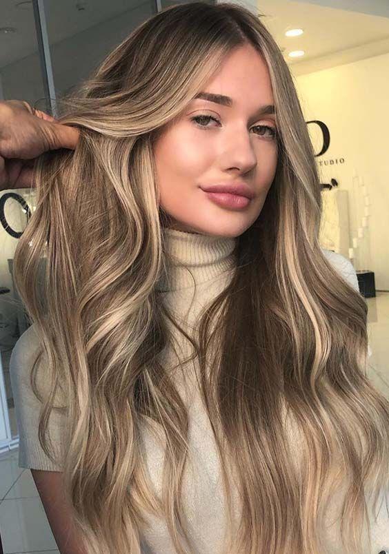20 wunderschöne sandblonde Haare lange Frisuren im Jahr 2018. Sehen Sie hier di... - Christmascocktails #cabelos