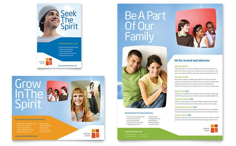 church youth ministry flyer  u0026 ad template design