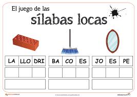Resultado De Imagen Para Silabas Para Imprimir Y Recortar Pdf Silabas Silabas Para Imprimir Juegos De Silabas