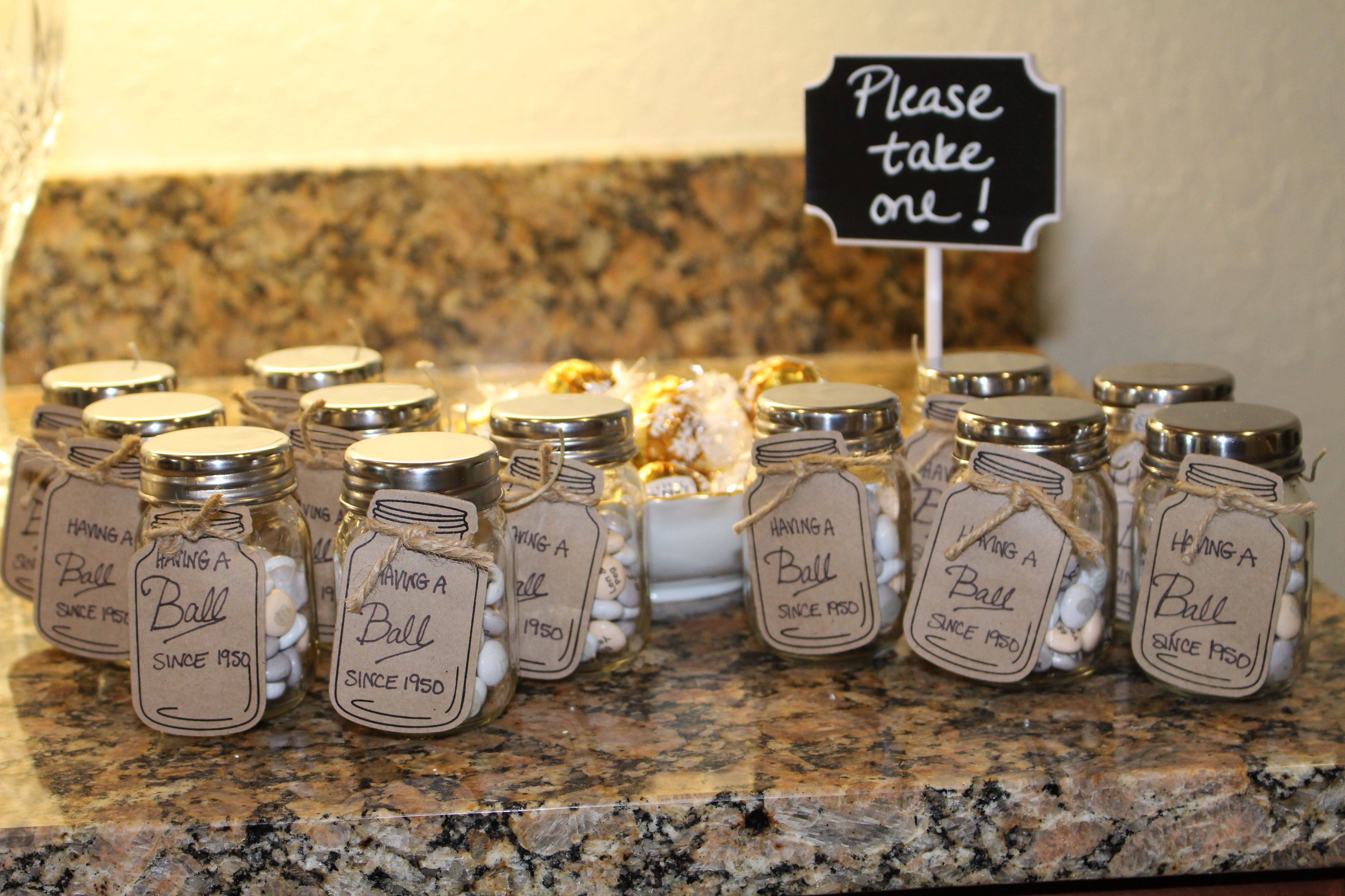 Favors for the guests tags from michaels custom printed