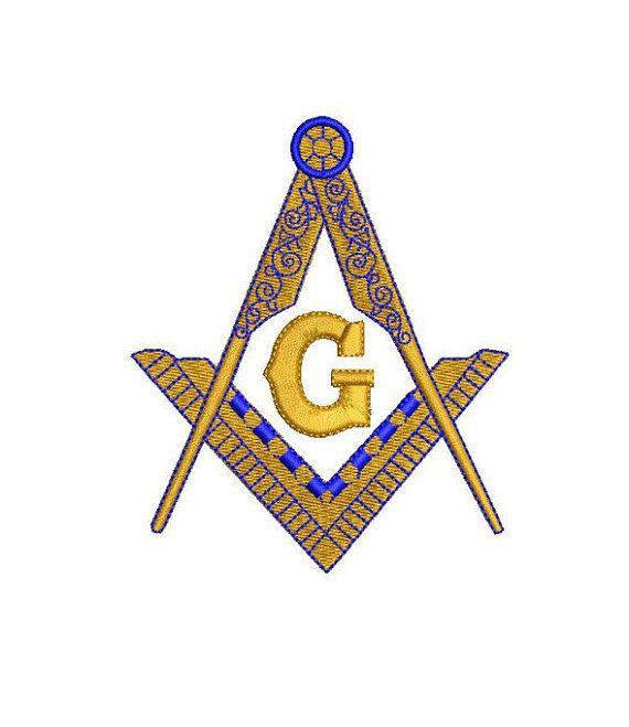 Masonic Compass Freemason Symbol Pattern 5 Sizes Machine Embroidery
