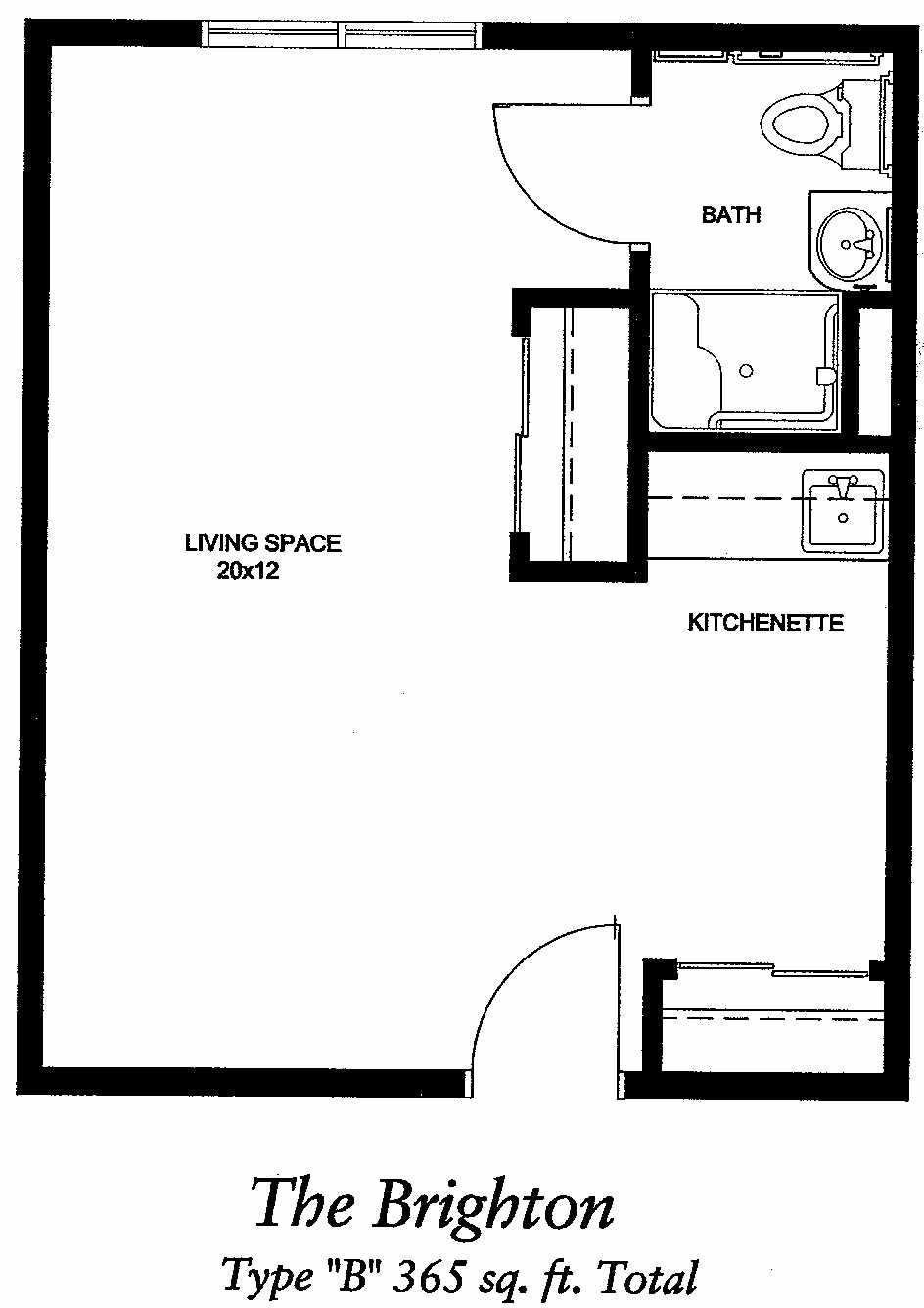 Image Result For 400 Sq Ft Apartment Floor Plan Studio Apartment Floor Plans Studio Floor Plans Apartment Floor Plan