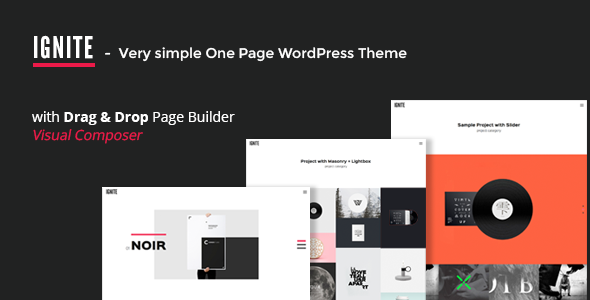 Ignite  Simple One Page Creative Wordpress Theme  Featuring