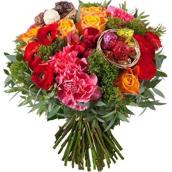 Joli bouquet de fleurs color et gourmand pour no l cr ations de no l pinterest - Joli bouquet de fleurs ...