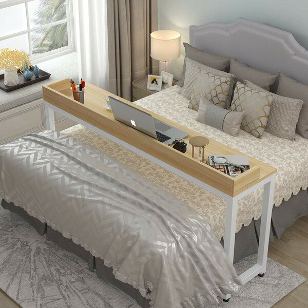 Carillo Overbed Writing Desk Small, Overbed Table Queen Bed