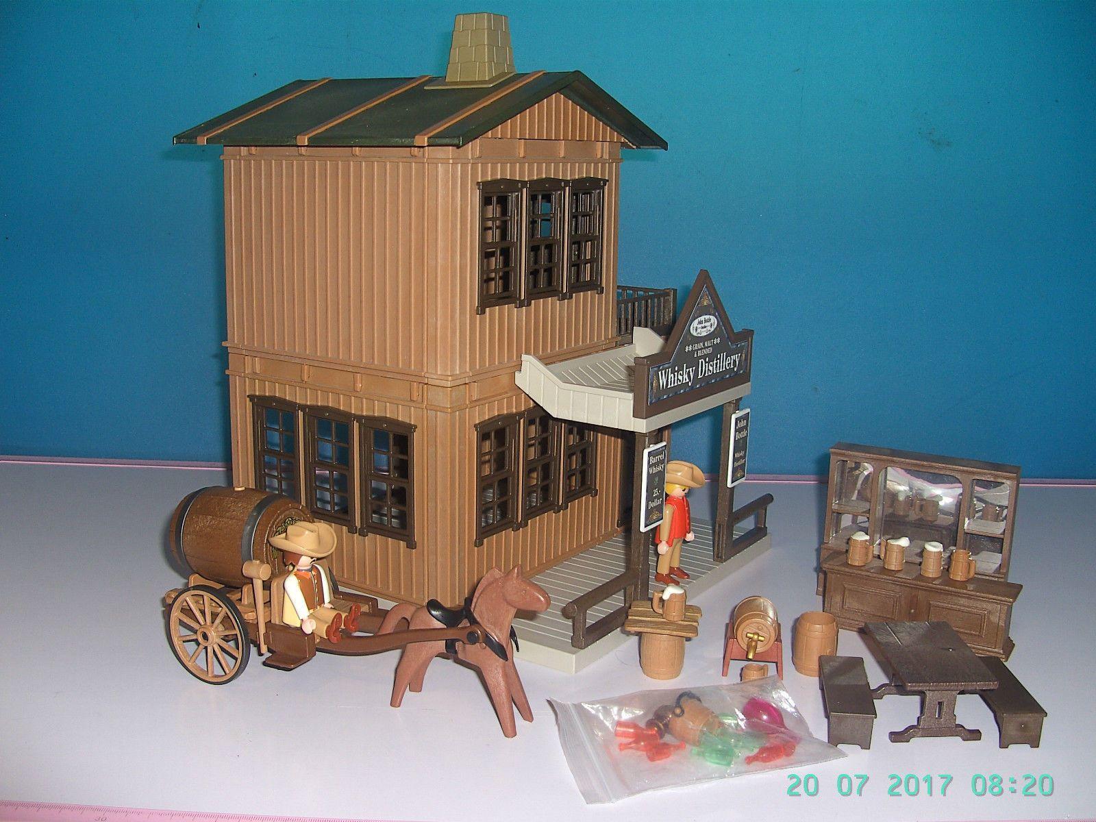 Playmobil lgb acw western haus whisky distillery xxl for Playmobil haus schlafzimmer