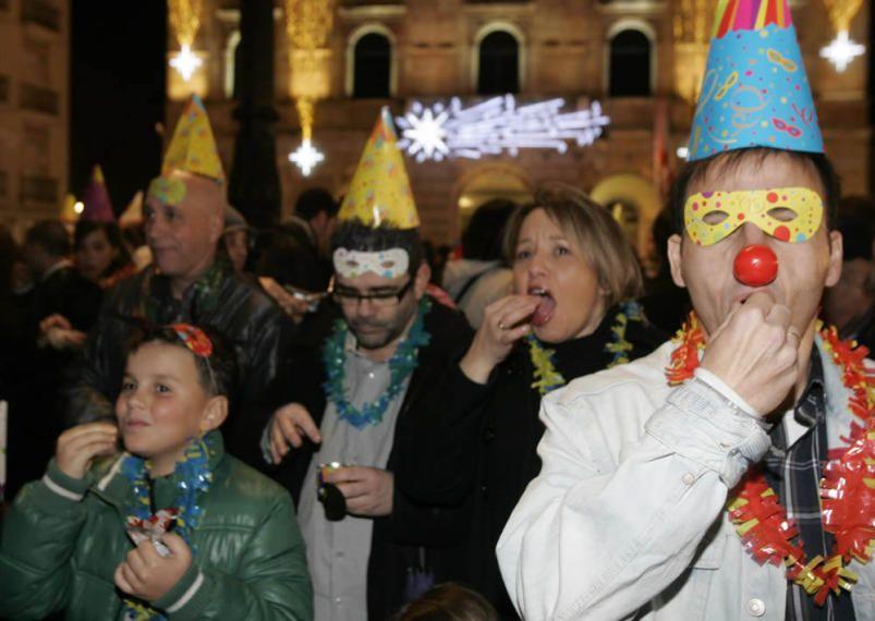 La Nochevieja en Gijón, en imágenes