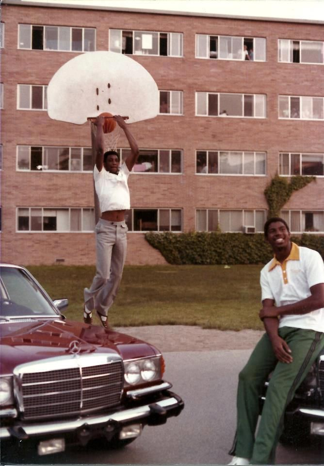 Magic Johnson Playing Basketball As A Student At Msu Brody Neighborhood Basketball Highlights Houston