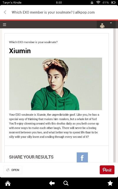 who is your exo soulmate