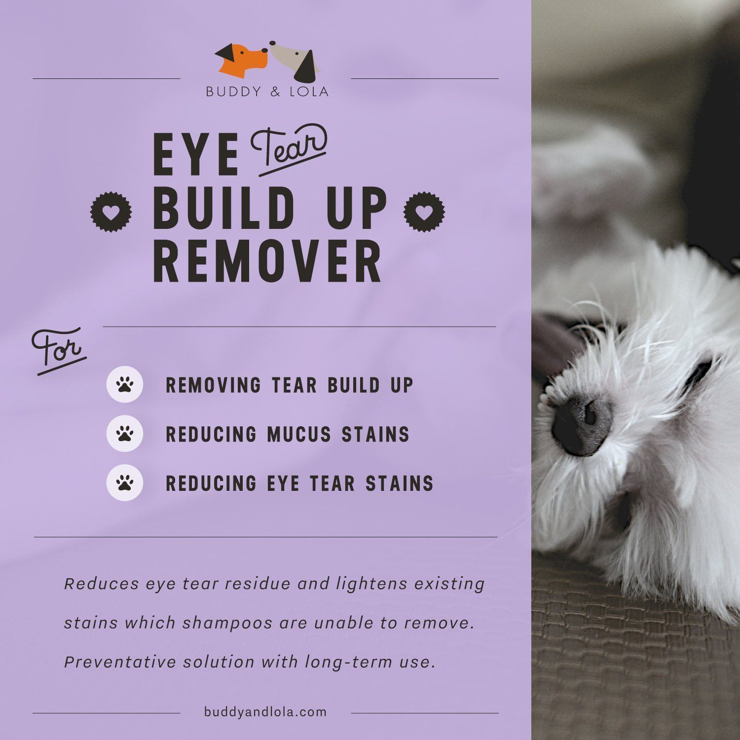 Natural Tear Stain Remover For Dogs Tear Stains Mucus Tears In Eyes