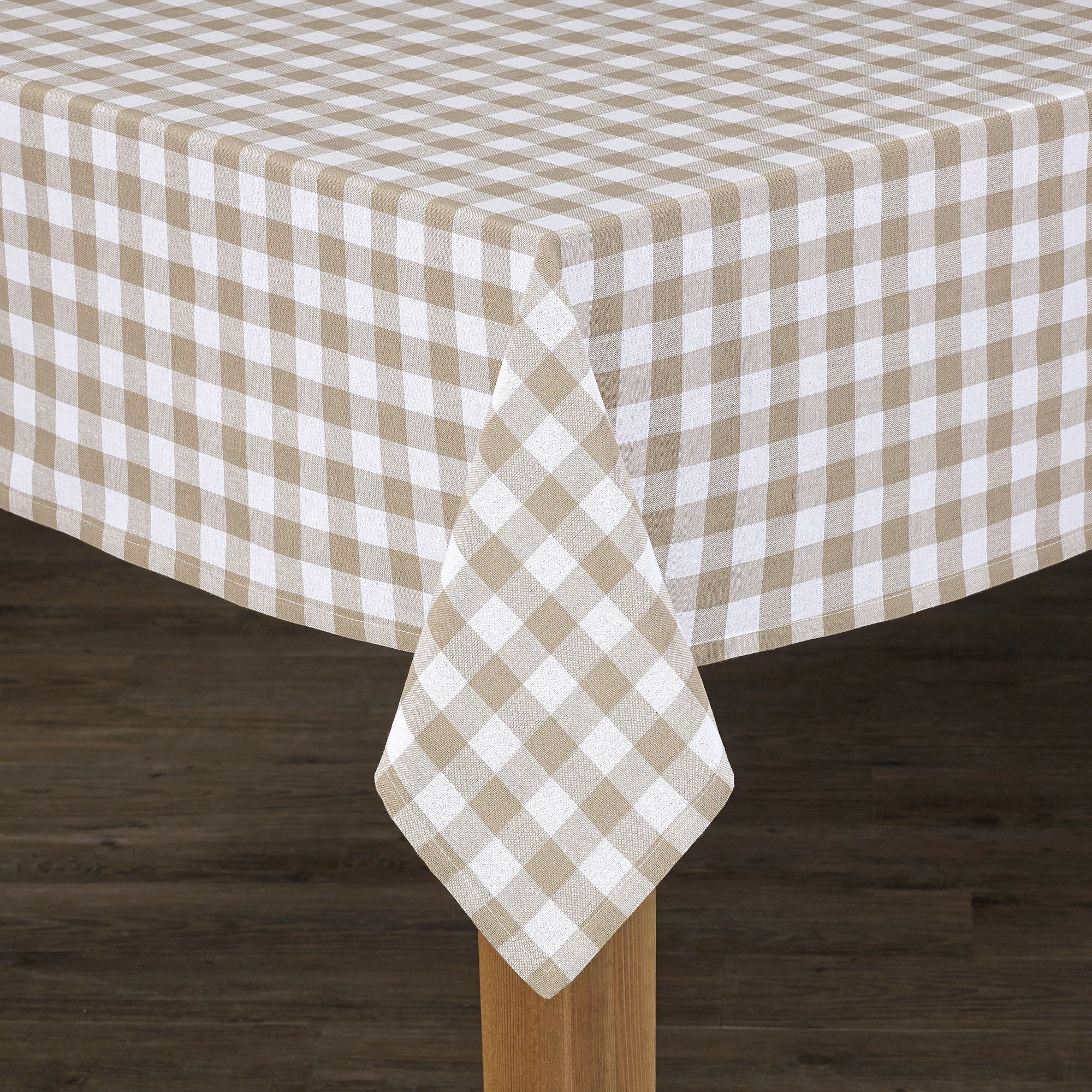 Conventry Sand Buffalo Check 100 Cotton Tablecloth 70 Round Walmart Com Table Cloth Tablecloth Sizes Cotton Tablecloths