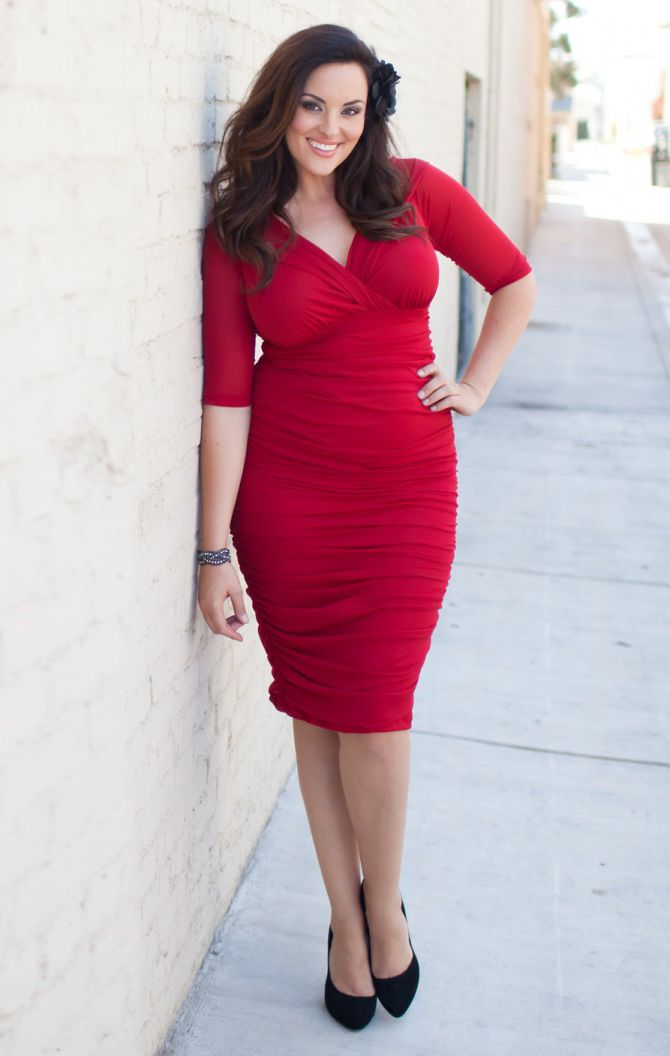 Womens Classic Red Dress Passionate About Plus Size Vintage Style