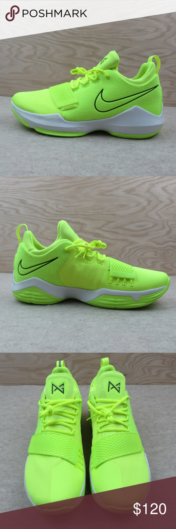 1db2542f7da Nike PG1 Size 14 Tennis Volt Basketball Shoes NEW Nike PG1 Tennis Ball Volt  Basketball Shoes Paul George Style - 878627-700 Men s Size 14 New without a  Box ...
