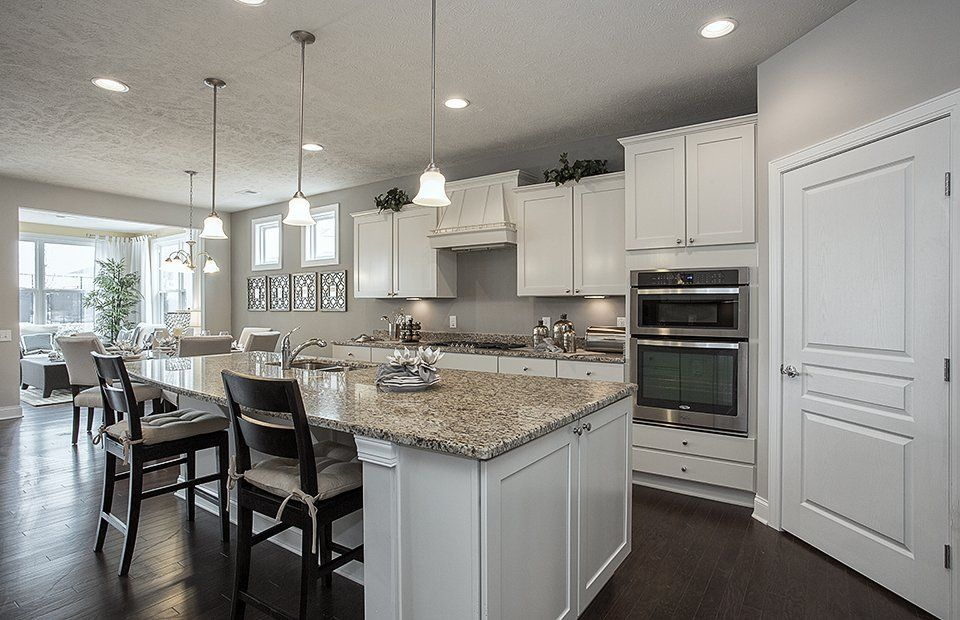 Traditional Kitchen with One-wall, Blanco Tulum Granite ...