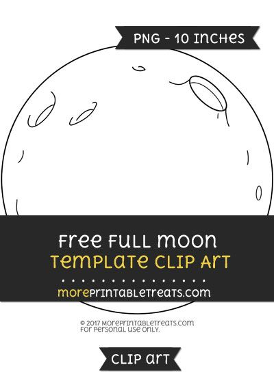 free full moon template clipart
