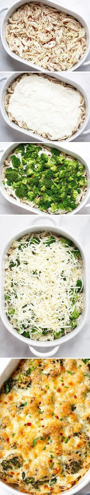 Broccoli Chicken Casserole with Cream Cheese and Mozzarella #foodrecipies