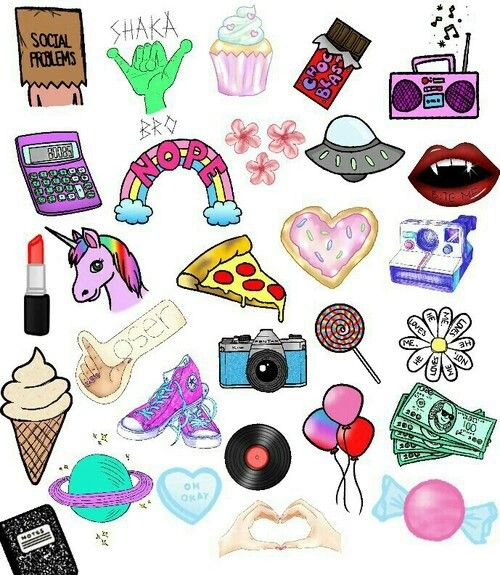Tumblr Collage Cute Stickers Cute Wallpapers Cute Drawings
