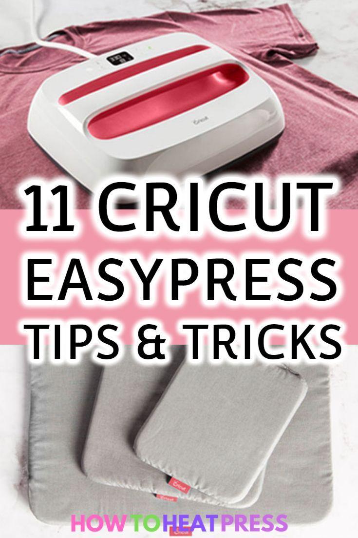 11 Cricut EasyPress Tips & Tricks! #cricutvinylprojects