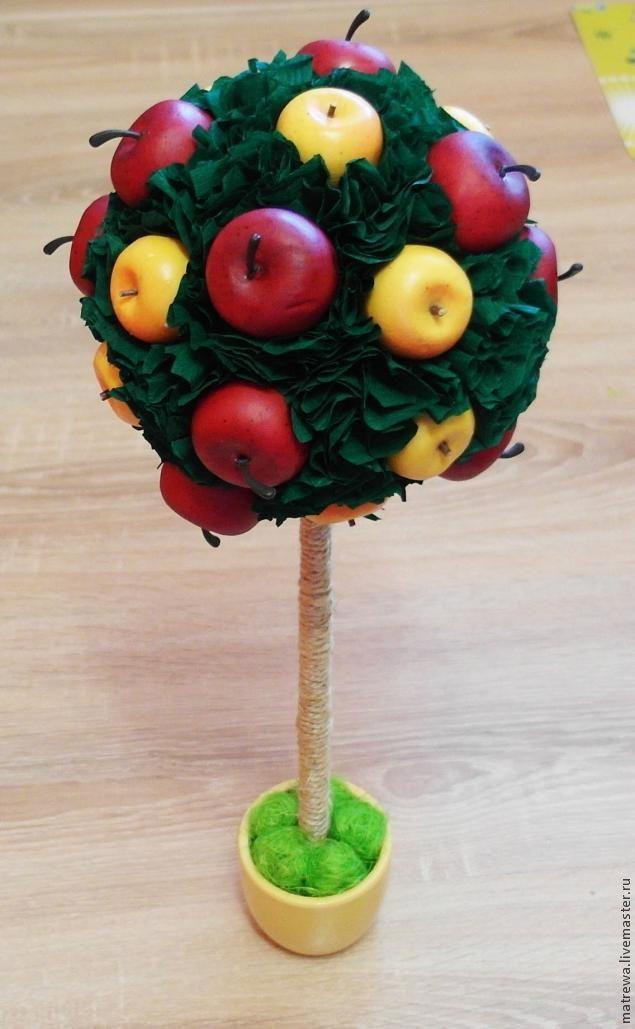 Яблочный топиарий своими руками. Мастер-класс 26