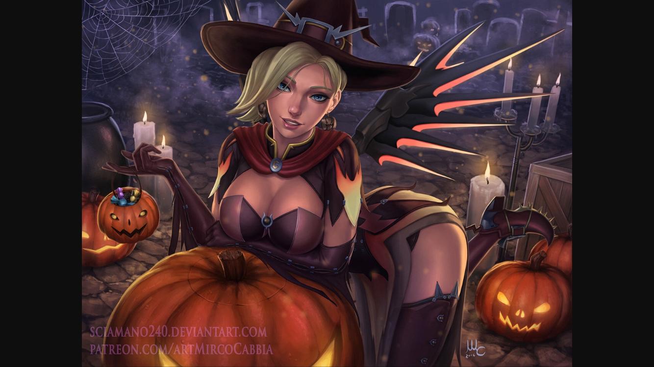 Overwatch Halloween Mercy Skin 🎃👻   Games   Pinterest   Overwatch