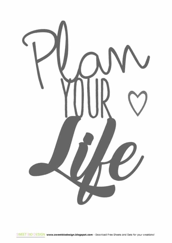 Sweet Bio design Personal Planner Agenda - Planner DIY Midori - agenda download free