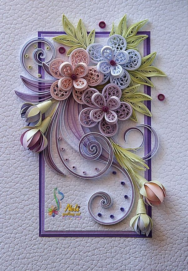 neli: Quilling card /14.8 cm- 10.5 cm/ by june
