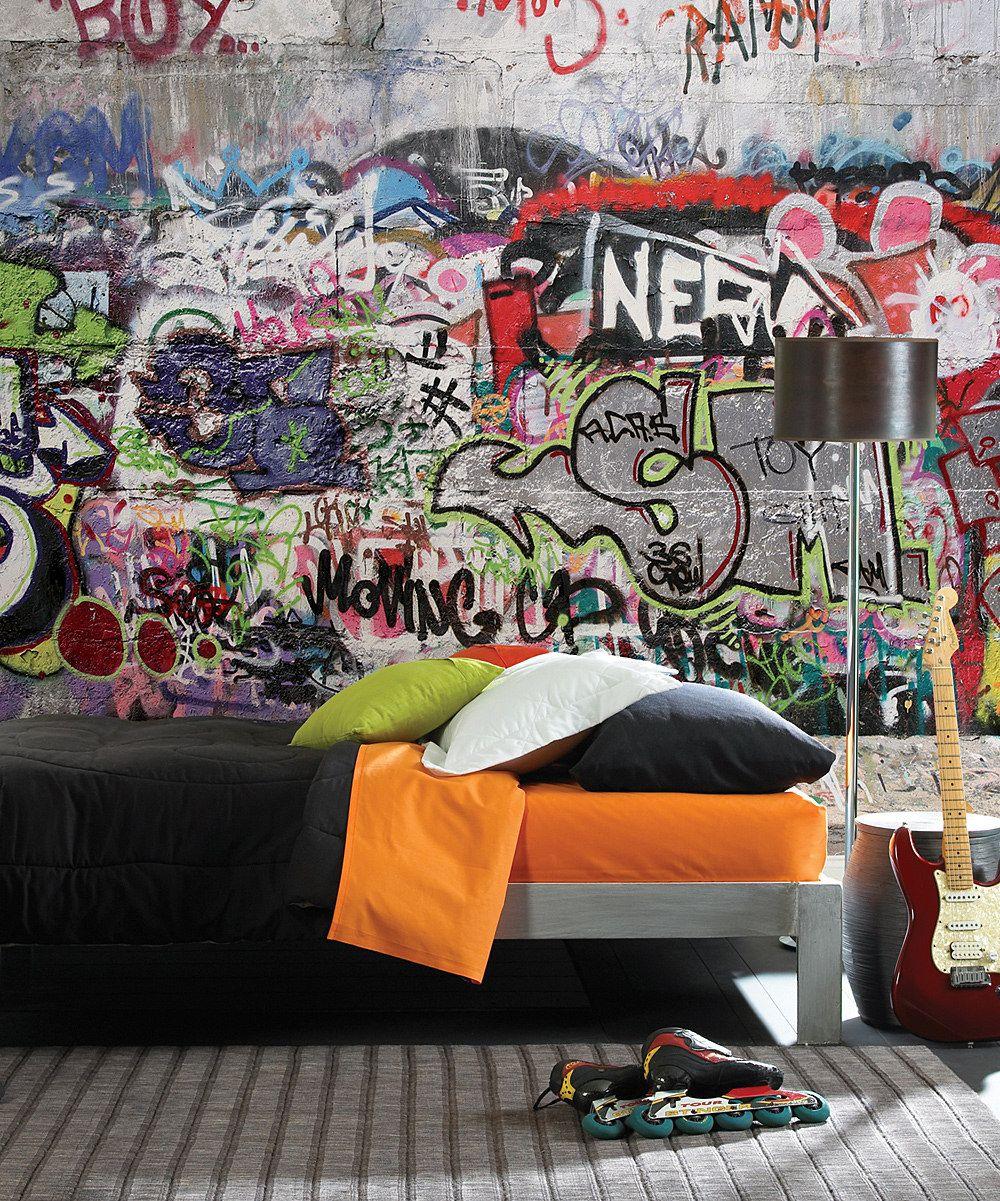 Unisex Bedroom Wallpaper Graffiti Bedroom Design Ideas Bedroom Bed Curtains Bedroom Athletics Beatrice Harris Tweed Moccasin Slipper: Graffiti Street Mural