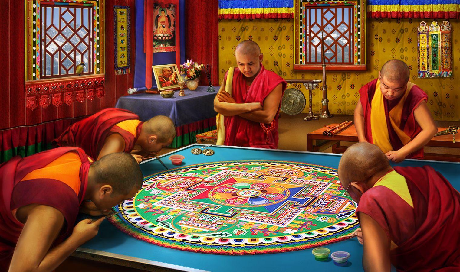 Gardens of Time Sand Mandala The incredibles, Mandala