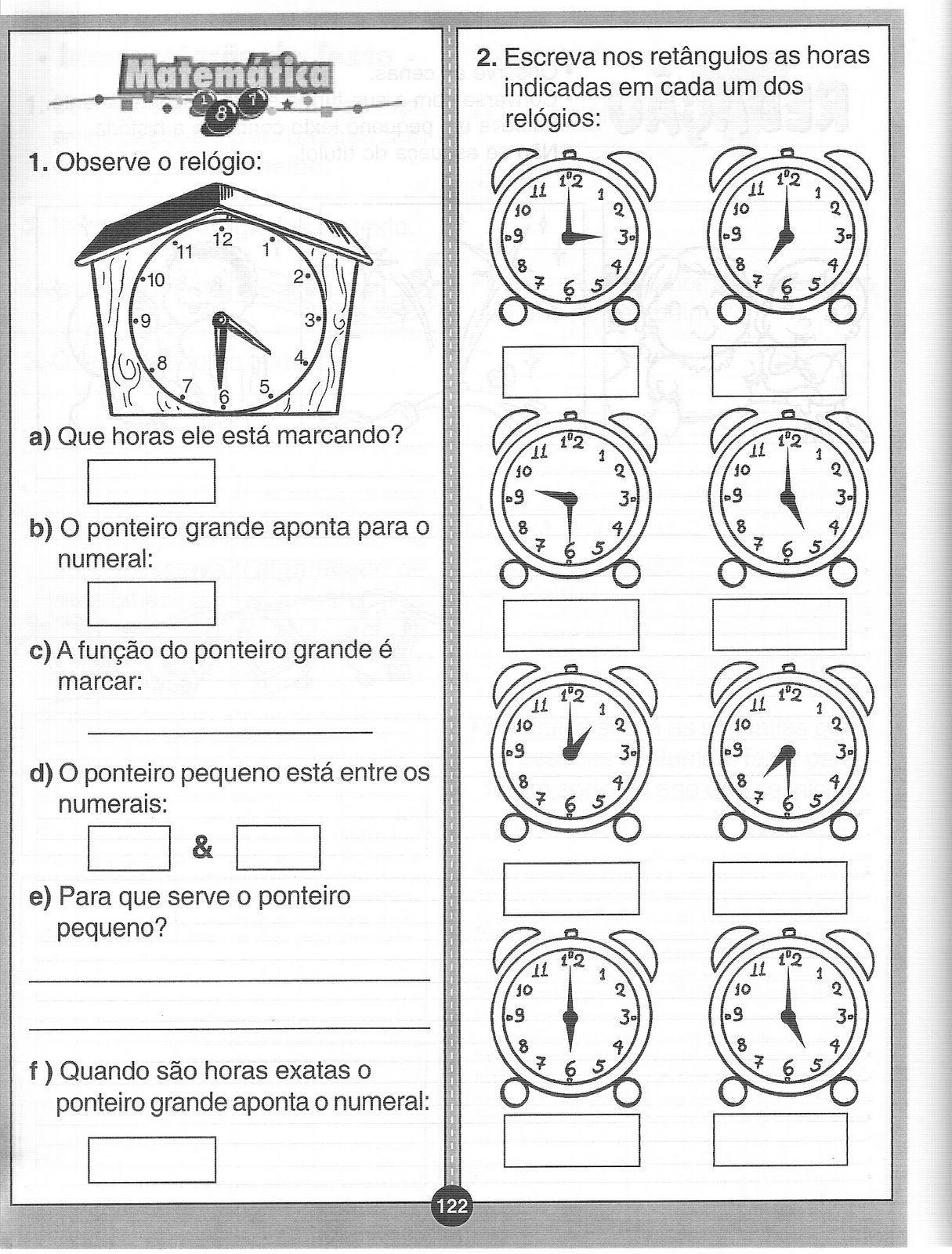 Resultado De Imagem Para Atividade Medida De Tempo Atividades