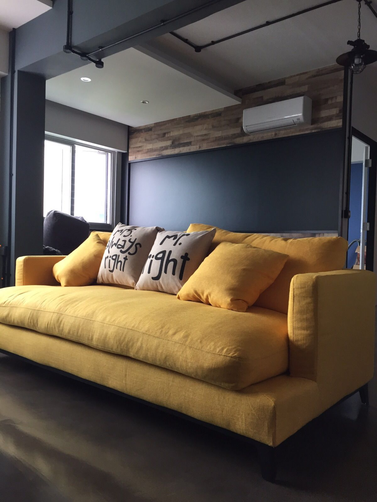 This One S For The Happy People Griffith All Decked Out In Yellow Smile Http Www Etchandbolts Com Sofa Gr Furniture Top Furniture Stores Custom Furniture