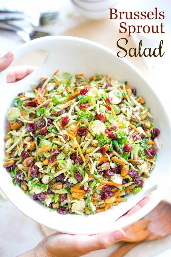 Superfoods Brussels Sprout Salad - Two Healthy Kitchens #brusselsproutrecipes