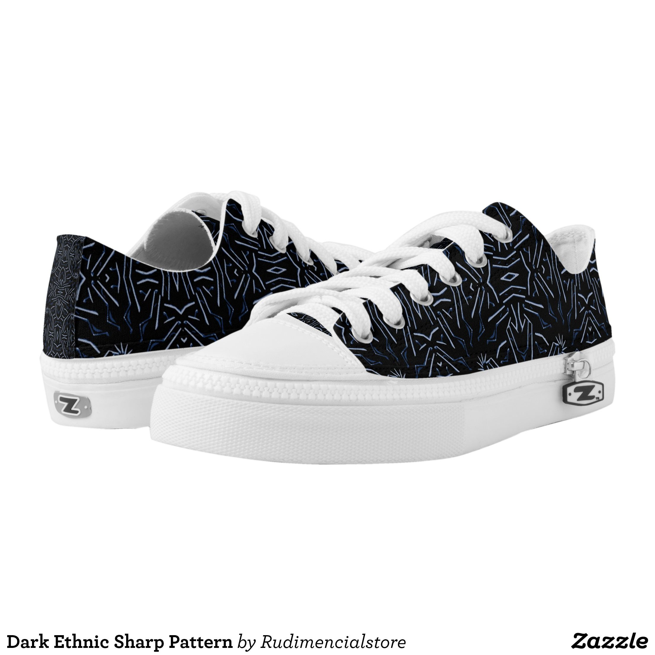 44380a80f19d Dark Ethnic Sharp Pattern Low-Top Sneakers - Canvas-Top Rubber-Sole  Athletic Shoes By Talented Fashion And Graphic Designers -  shoes  sneakers   footwear ...