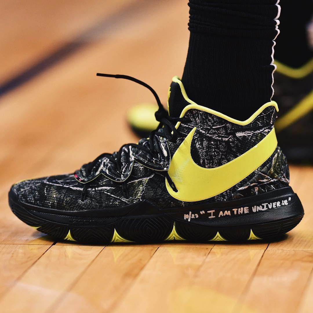 Celtics wearing the Nike Kyrie 5 PE