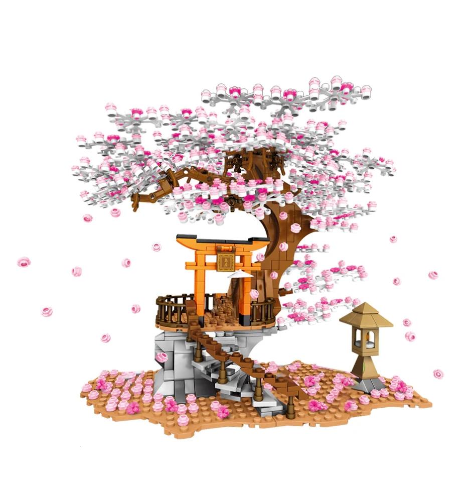 Sakura Cherry Blossom Shrine Model Kit Buildiverse In 2021 Sakura Tree Cherry Blossom Sakura