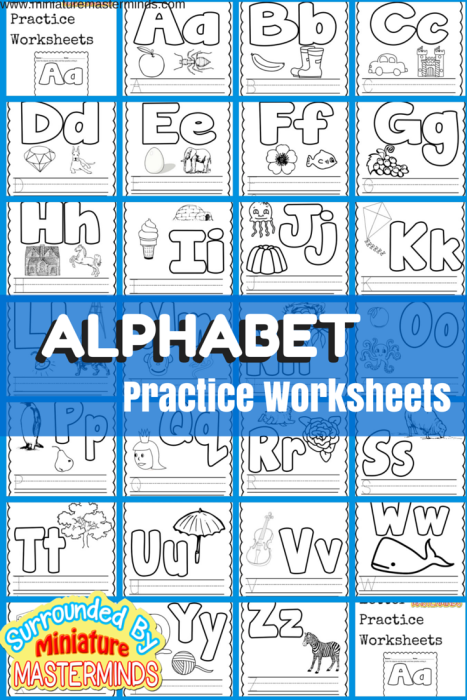 Basic Concept Alphabet Practice Worksheets Free Printables | Lower ...
