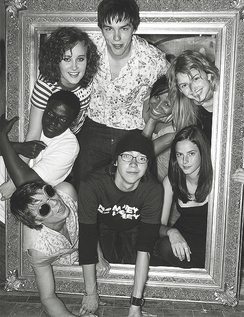 SKINS, I am only up to season 2, so this is the cast that I know. I would totally let my teenage nephews and niece watch it, its about what they are going through right now.