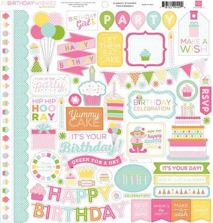 Happy Birthday Girl Sticker Sheet By Jillianmaddiepaperie On Etsy