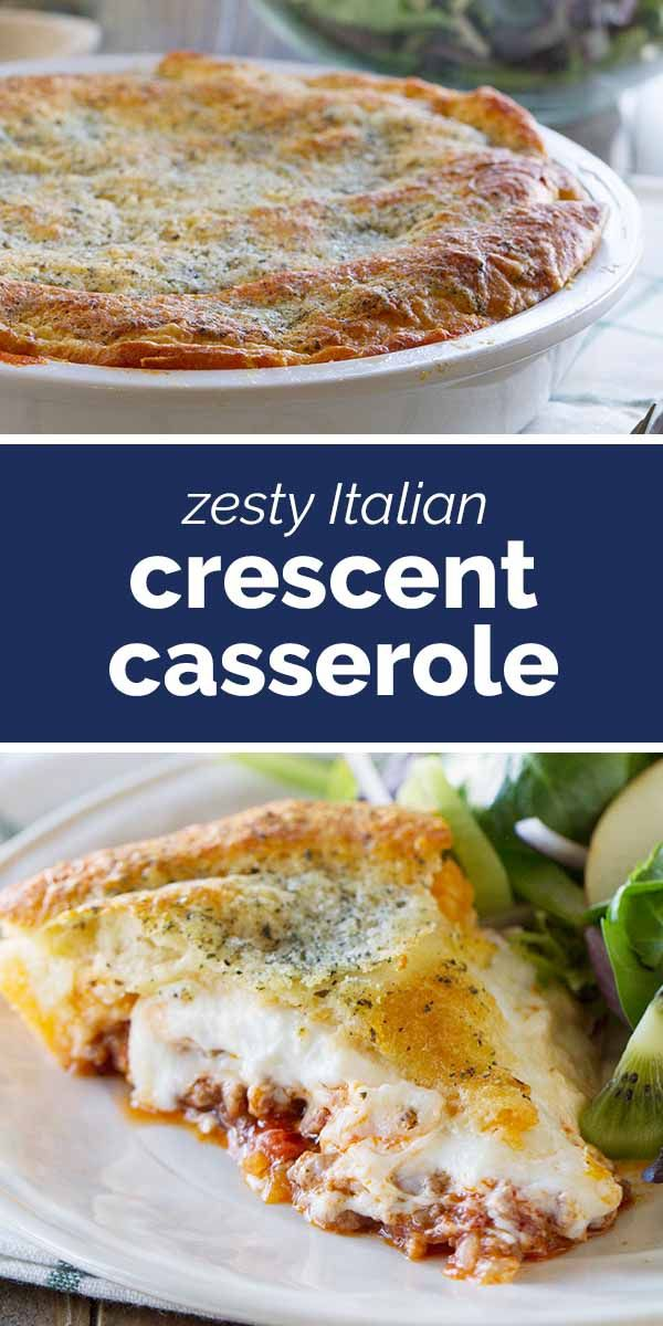 Photo of Zesty Italian Crescent Casserole