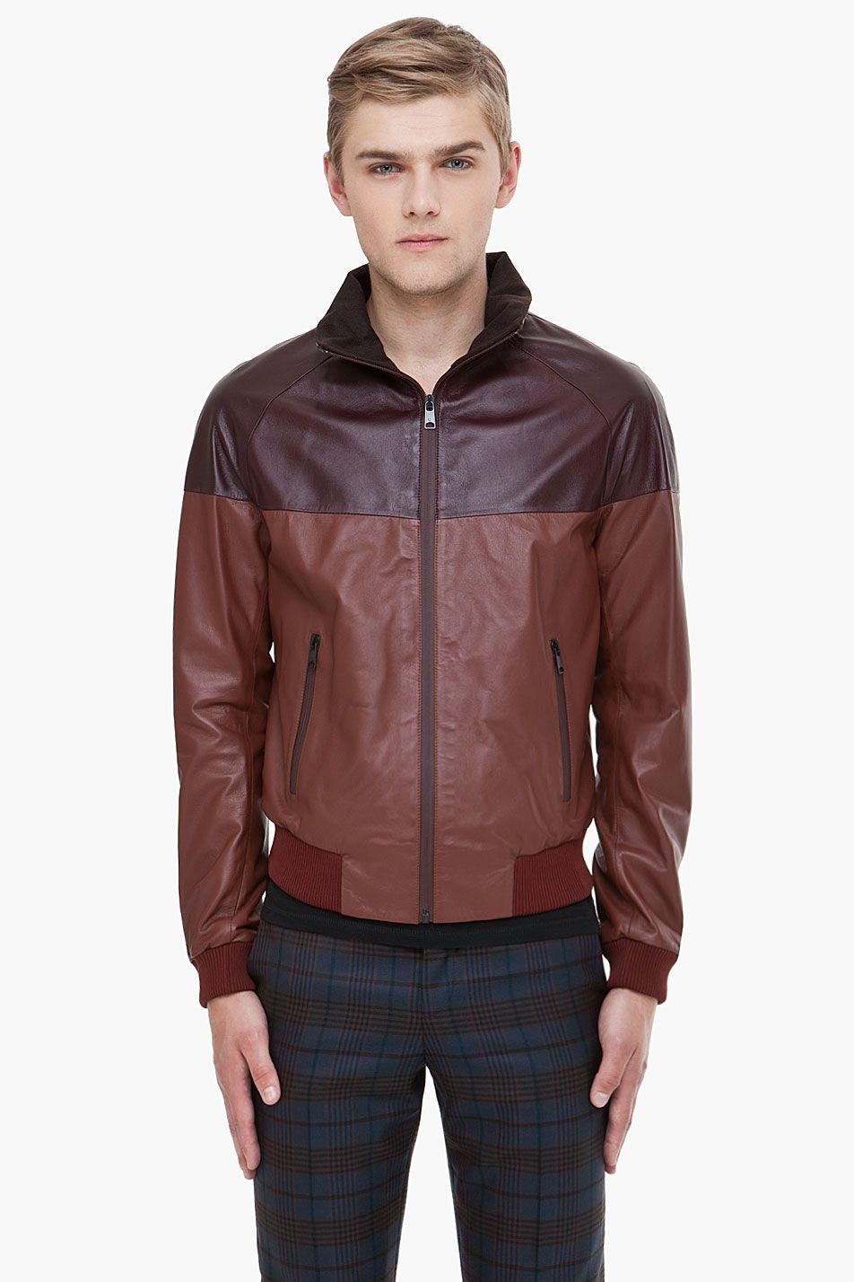 ALEXANDER MCQUEEN Dual Brown Leather Jacket