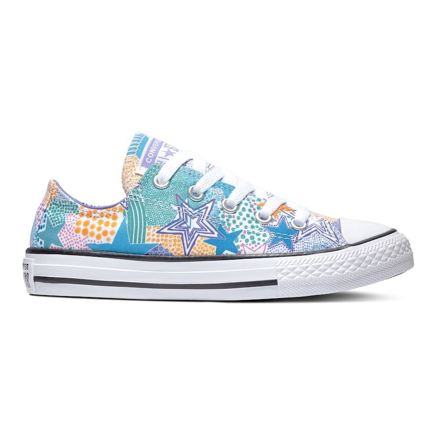 c4101929 Girls' Converse Chuck Taylor All Star Maddie Mosaic Sneakers, Size: 12,  Black