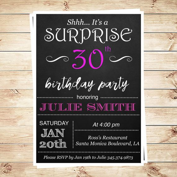 Its a surprise party invitations 30th by artpartyinvitation grown items similar to its a surprise party invitations 30th birthday editable invitation digital download surprise birthday party invites for any age on etsy filmwisefo
