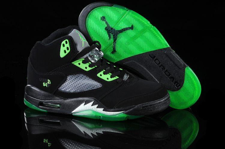 promo code c8345 82b76 Air Jordan 5 Retro Shoes Black Green | Fresh footwear | Nike ...