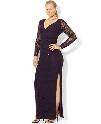 awesome plus size dress lauren ralph lauren plus size dress, long